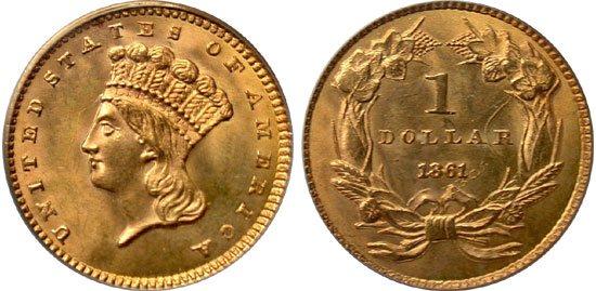 Indian Princess Gold Dollars 1854 1889